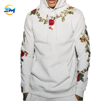 473c5a1b7ee Hot sale new trend with rose flower rattan simulation 3d printing pullover  hoodie custom different color