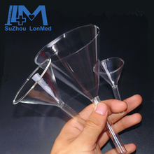 Lab conical glass funnel 60 degree approx long stem & short stem
