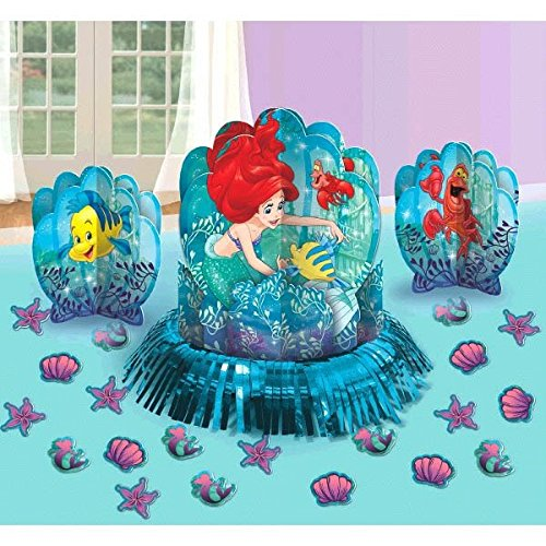 Disney Little Mermaid Princess Ariel Dream Big Party Table Decorations Kit ( Centerpiece Kit ) 23 PCS - Kids Birthday and Party Supplies Decoration