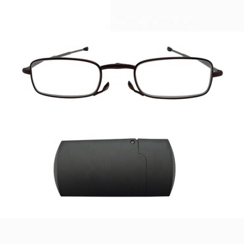 Brightlook Hot sale foldable reader,durable metal mini folding reading glasses with compact case