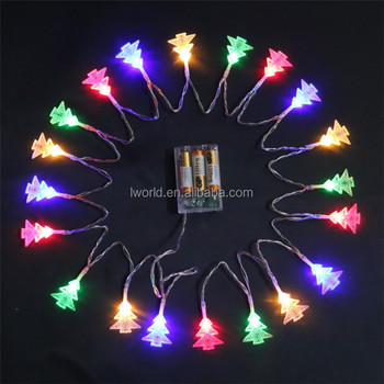 ip65 battery power christmas tree light f5 led pvc wire christmas light for holiday celebration