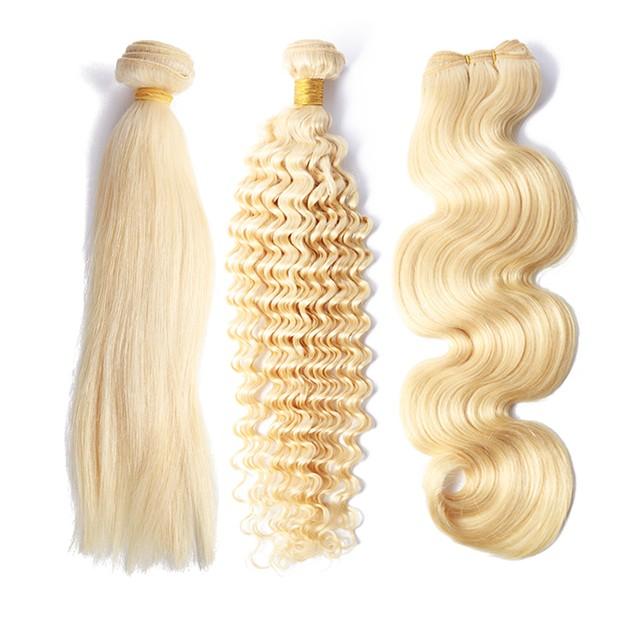 2019 Ali express Raw Wholesale Cuticle Aligned Brazilian 613 Blonde Human Hair Curly Extension Vendors Virgin Bundles For Women