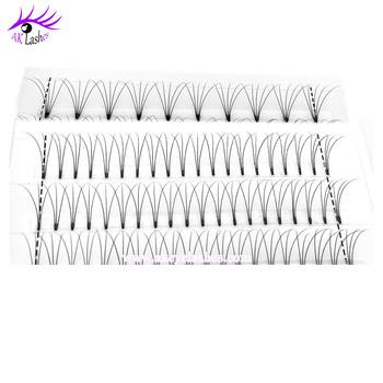 ee07c6f399a Premade Fan Rootless 3D 5D Russian Volume lashes C D Curl Eyelash Extension  0.07 short stem