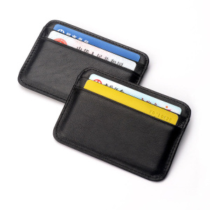Slim Soft Leather Mini RFID Credit Card Holder Wallet