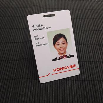 custom photo id badges retractable plastic pvc id badge holder with