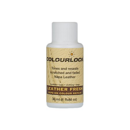 COLOURLOCK Leather Fresh dye 1fl oz DIY Repair Color, dye, restorer for scuffs, small cracks on car seats, sofas, bags, settees and clothing