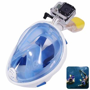 Wide Vision Free Breathing Full Face Dry Snorkeling Mask Scuba Diving Equipment with Gopro Camera Mount