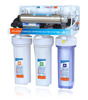 Auomatic flushing reverse osmosis membrane filter system purifier of water