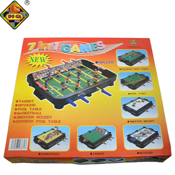 Buy 7 In 1 Mini Basketball Soccer Hockey Table Game Foosball Table Set