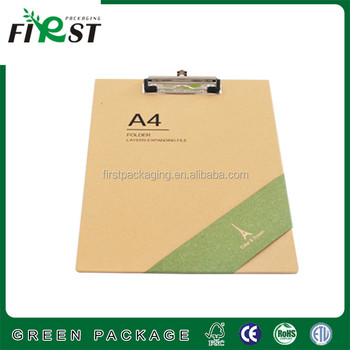 writing clipboard with strong clip/Custom printing cardboard A4 clipboard Paper Folder
