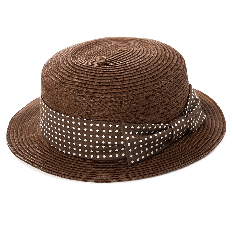 17548daf9fa4c Get Quotations · Siggi Womens Skimmer Boater Straw Hat 1.8