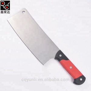 Best selling products kitchen knife ABS colour handle meat cleaver