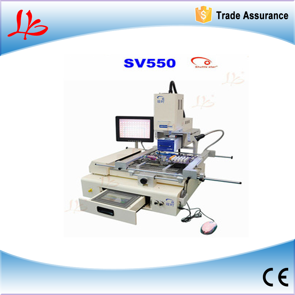 Shuttle star semi-auto RW-SV550 infrared +hot air bga rework station/system,touch screen+CCD system