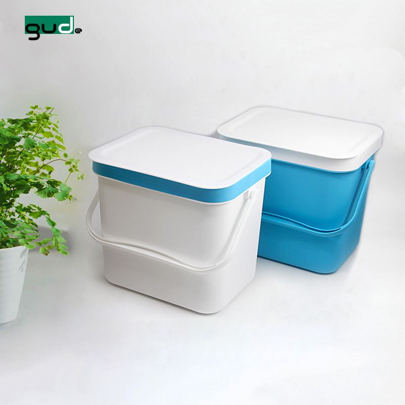 hot sale kitchen 8L wall mount rectangular plastic trash can with handle
