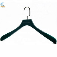 Custom luxury high quality wooden coat hangers non slip