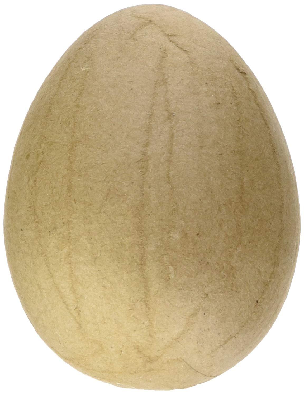 Craft Pedlars CPL1010807 Kraft Paper Mache Easter Egg, X-Small