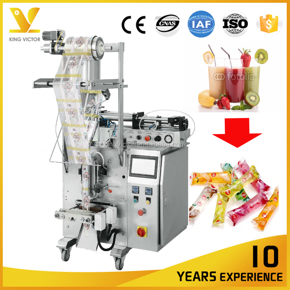Small Scale Sachet Ice Lolly Citrus Juice Lolly Packing Machinery