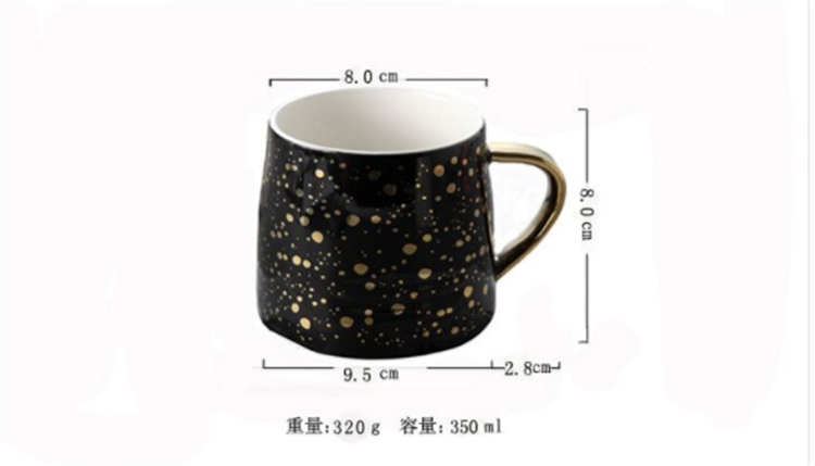 Golden speckled  luxury french  ceramic cheap  custom mugs coffee