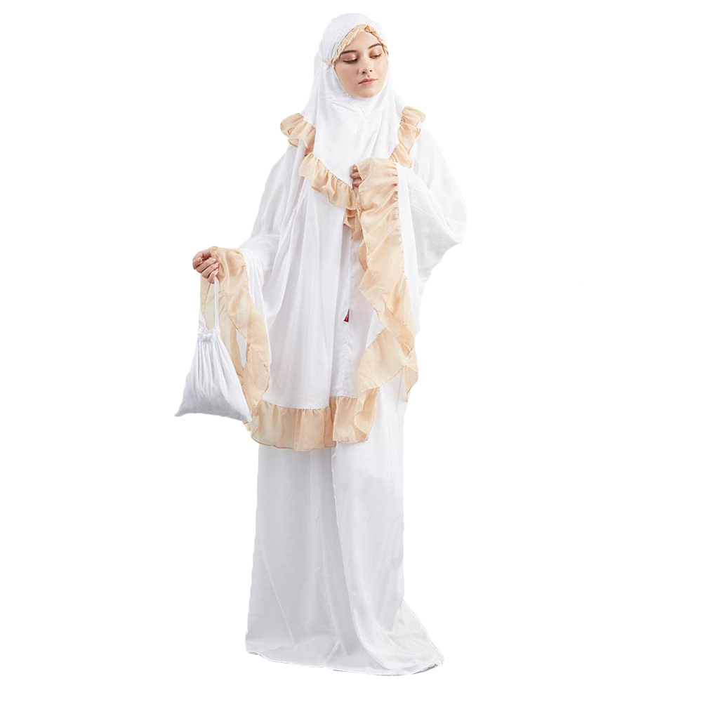 2019 Fashion elegant jilbab khimar prayer clothes islamic clothing prayer abaya for women