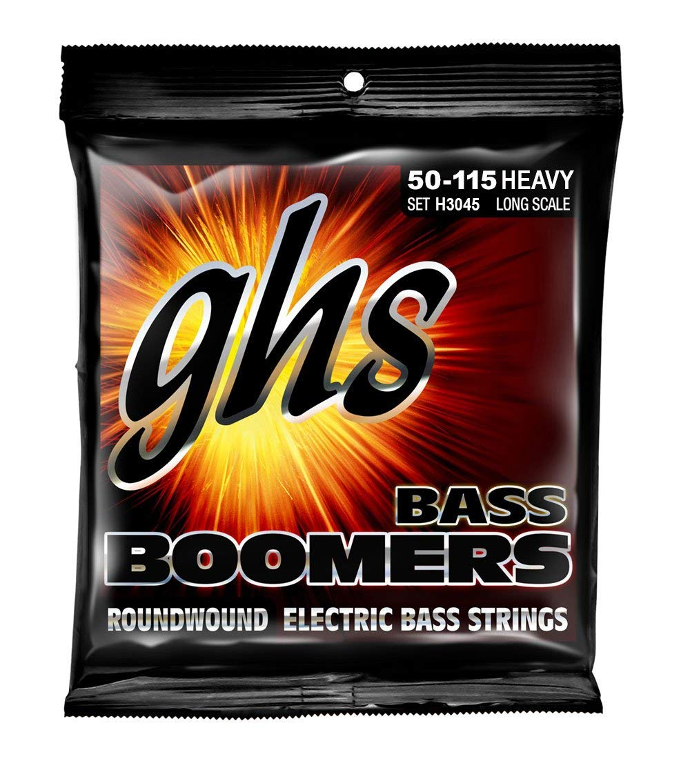 GHS Strings H3045 Bass Boomers, HEAVY SET