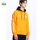 Urban clothing high street customized printing letter orange crew neck sweatshirt for man online