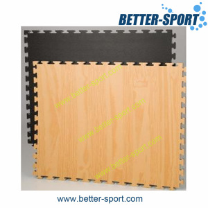 EVA interlocking foam mat in wood color, Wood grain pattern Taekwondo EVA mat
