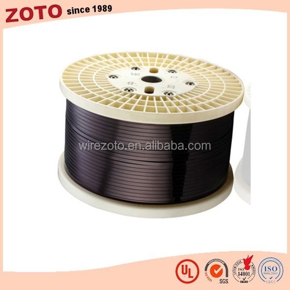 Enamelled copper square wire for electromagnetic coil