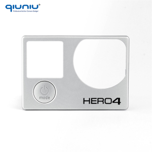 QIUNIU For GoPro Repair Parts Faceplate Front Board Cover Frame Front Panel Replacement for GoPro Hero 4 Silver Black Camera