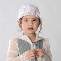 chiffon lace skull cap floral flower bucket sun hat for kids infant baby girl