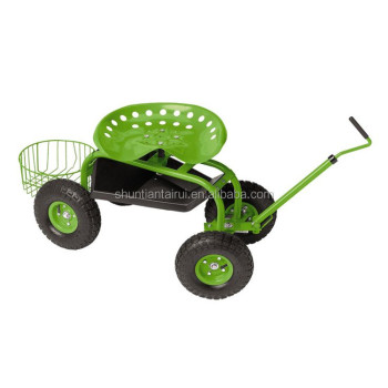 Rolling Garden Caddy Tractor Style Work Seat On Wheels