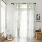 Classic Luxury 100% polyester Printing Clear Window Applique Curtain Roman