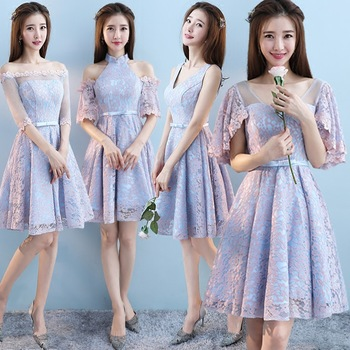 Zhf203 2018 New Design Bride Flower Lace Sister Dress Short Bridesmaid  Dress , Buy Short Bridesmaid Dress,Lace Short White Dress,New Design  Bridesmaid