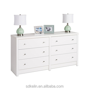 Modern Used Bedroom Furniture White Color Dresser with 6 drawers