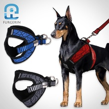 Gepolsterte Hund Harness <span class=keywords><strong>Weste</strong></span> Reflektierende Walking Blei <span class=keywords><strong>Leine</strong></span> für led hund harness einstellbare Für Small Medium Large Hunde