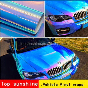 colorful mirror chameleon chrome car body vinyl wrap personalized stretch wrap film stickers