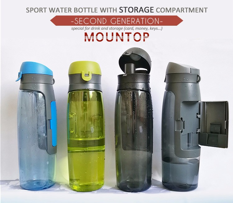 Color Plastic BPA Free Custom Logo wholesale pet shaker Water Bottle