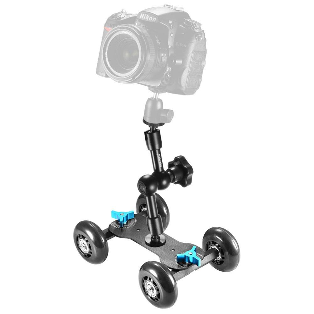 Kingjoy VX-103 Flexible 4-wheel DSLR Camera Photo Dolly for photography studio equipment