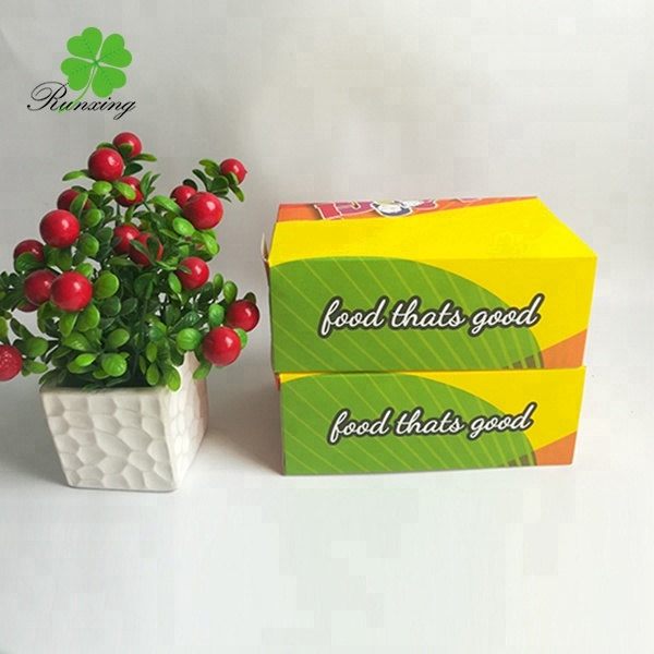 custom biodegradable paper chicken box with handle