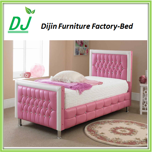 Leather bedroom furniture, queen leather bed, pink leather bed