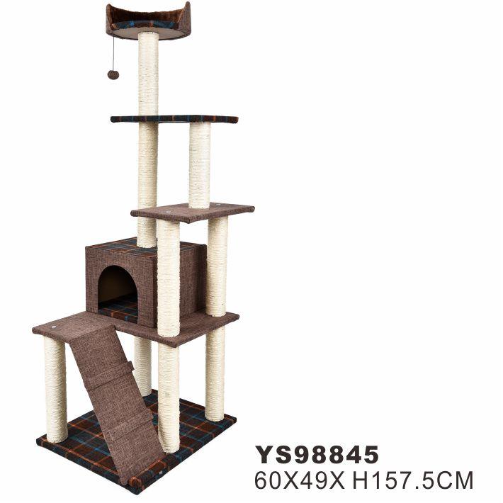 Manufacture Sale Customized Pet Cat Large Cat Tree Big House Condo