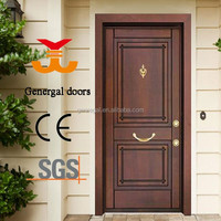 Luxury china steel wood entrance exterior armored door