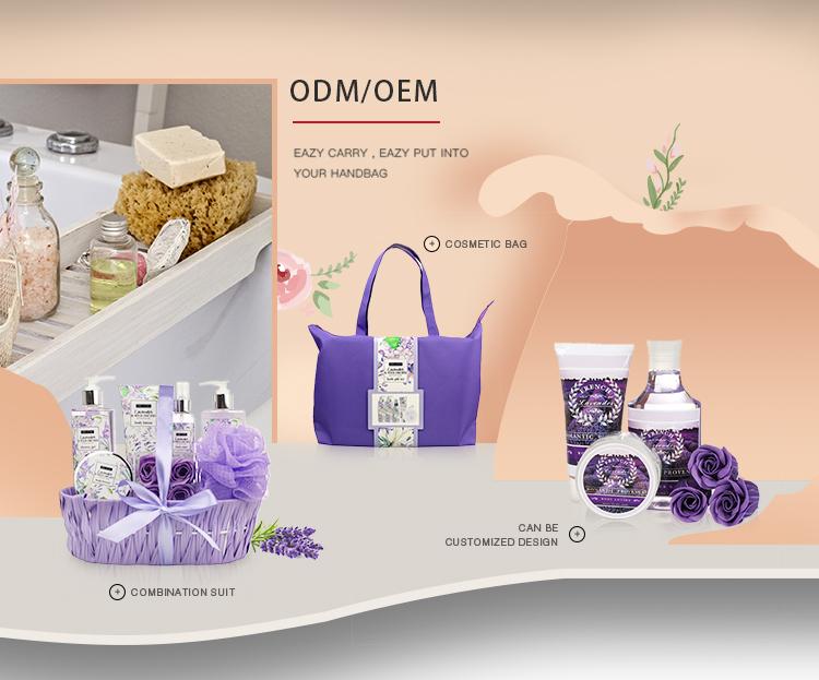 Groothandel Lavendel Aromatherapie essentiële olie douchegel spa bad set