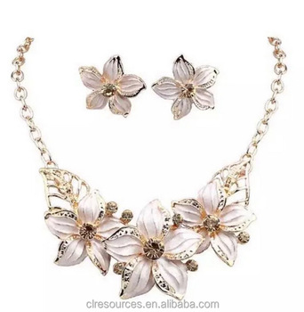 Delicieux Indian Bridal Jewelry Sets Wholesale Necklace Chain Gardenia Jewelry Set