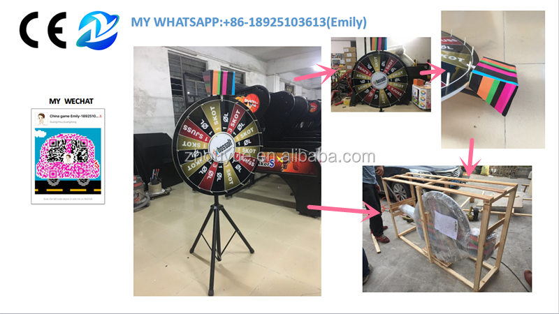 Floor stand spin game carnival prize wheel fortune wheel - 18925103613(my whatsapp)