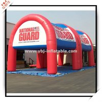 colourful national guard inflatable tent