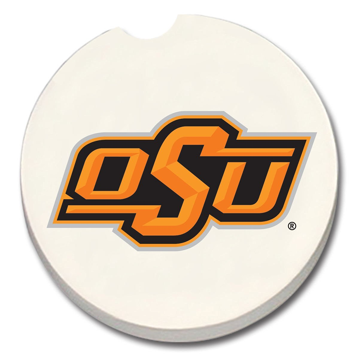 NCAA Oklahoma State Cowboys Absorbent Stone Car Coaster - Pack Of 2