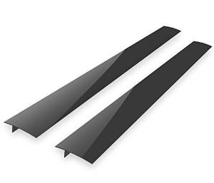 Kohzie Stove Counter Gap Cover - Silicone BLACK (Set of 2) Stove Gap, Gap cap for stoves - Seals the Gaps Between Appliances and Furniture