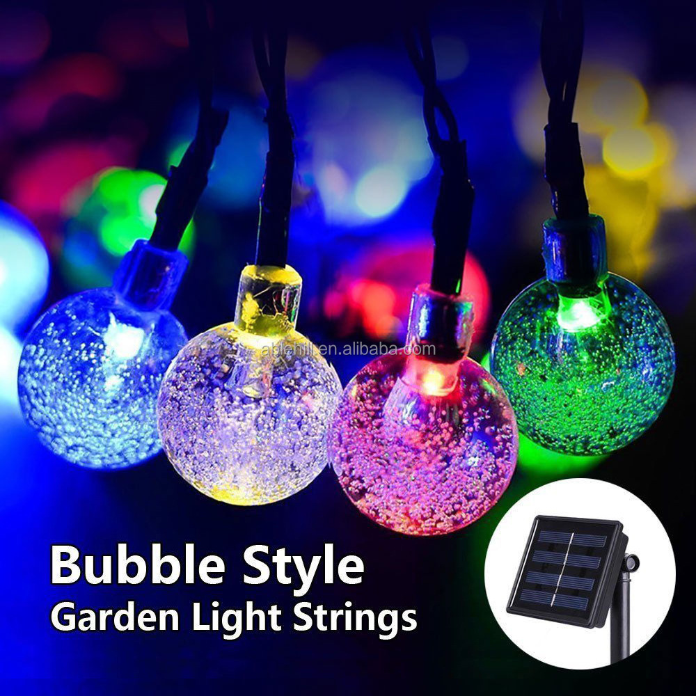 Solar Powered Christmas Lights.Outdoor Solar Powered Bubble Ball Waterproof Lights Led Christmas Lights String Buy Lights Led Christmas Lights String Product On Alibaba Com