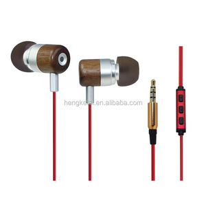 Real wood stereo double speakers wired earphones with mic and volume control,OEM earphones with CE,ROHS from Disney factory