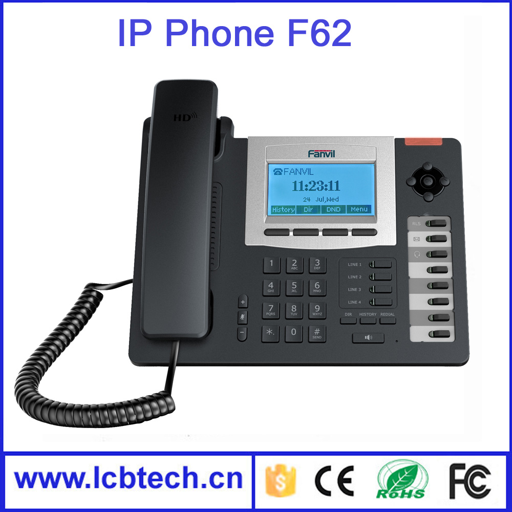 F62 SIP WIFI Phone Entry-Level Business Wireless IP Phone , HD Voice